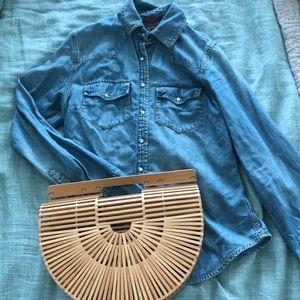 Button Down Jean Shirt